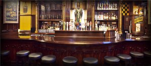 The magnificent bar at Ri Ra the Irish Pub