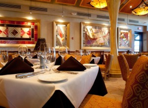 The ultra lavish dining room at Eddie Merlot's