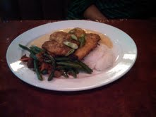 The Parmesan crusted Tilapia
