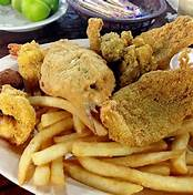 One of the yummy seafood platters available at Captain Tom's