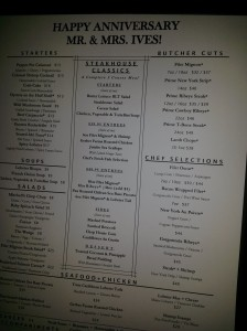 Our personalized menus
